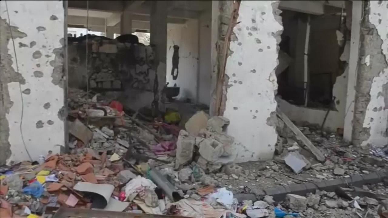 Gedeelte stad Taiz in puin door gevechten in Jemen