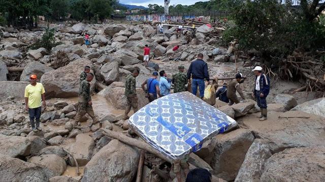 43 kinderen onder de slachtoffers van de modderstromen in Colombia
