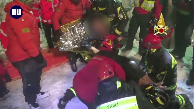 Opnieuw mensen gered uit door lawine bedolven hotel Italië
