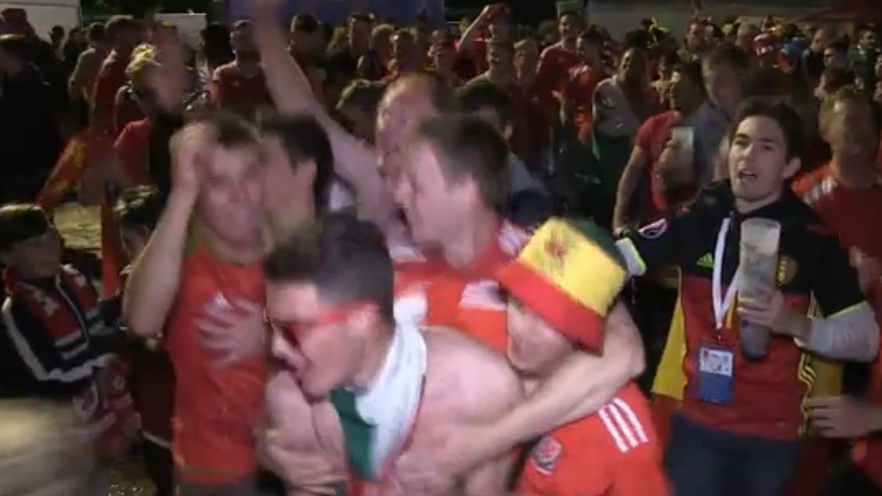 Welshmen uitzinnig na overwinning op België