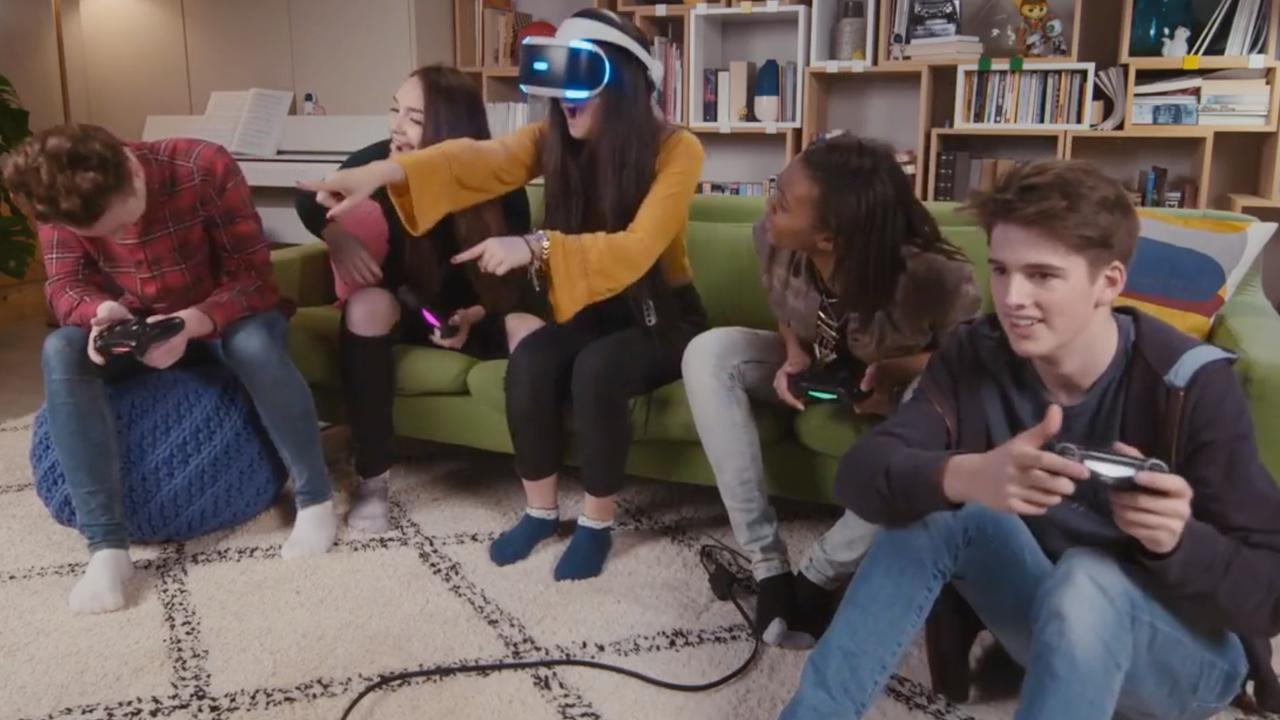 Dit zijn gamebeelden van PlayStation VR