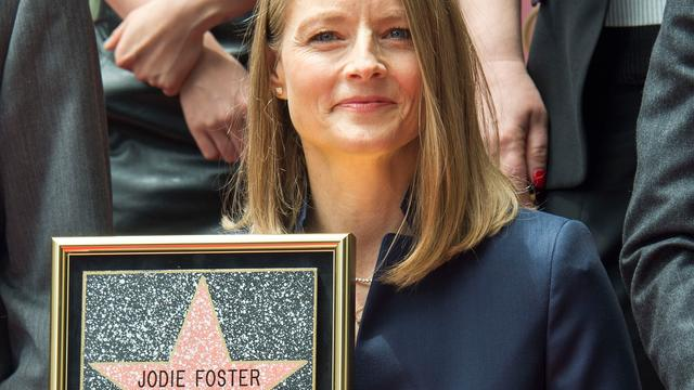 Jodie Foster geëerd met ster op Walk of Fame in Hollywood
