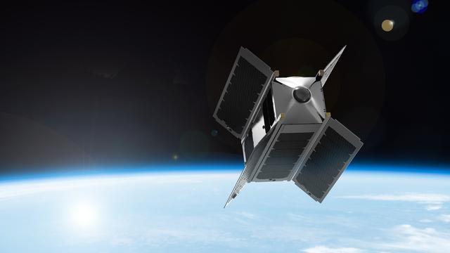 Satelliet met virtualreality-camera's in 2017 de ruimte in