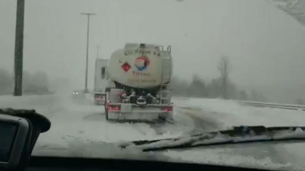 Verkeersproblemen in de Ardennen