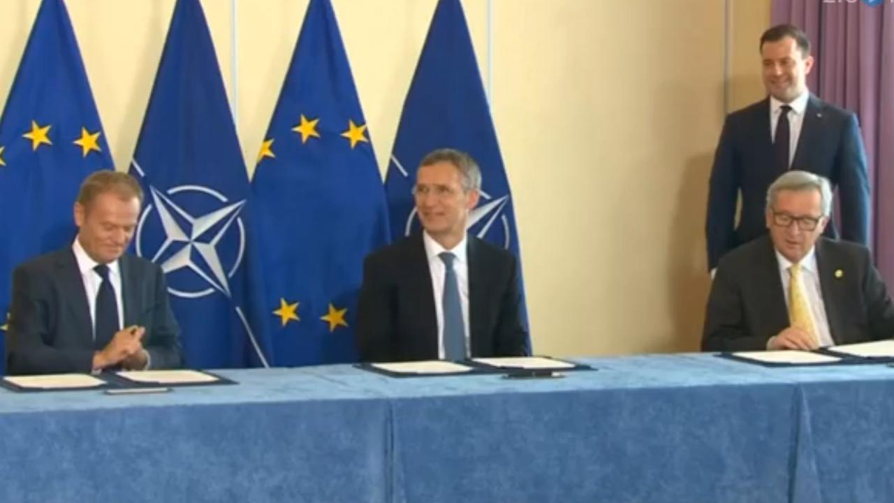 Band tussen EU en NAVO bekrachtigd tijdens top in Warschau