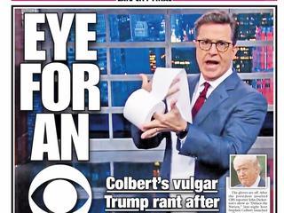 Veel klachten na volgens sommigen 'homofobische' opmerkingen over Trump in Colberts Late Show