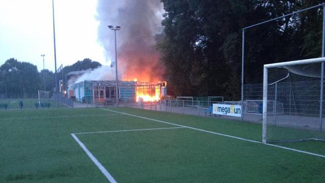 Crowdfundingactie voor door brand gedupeerde VV Potetos