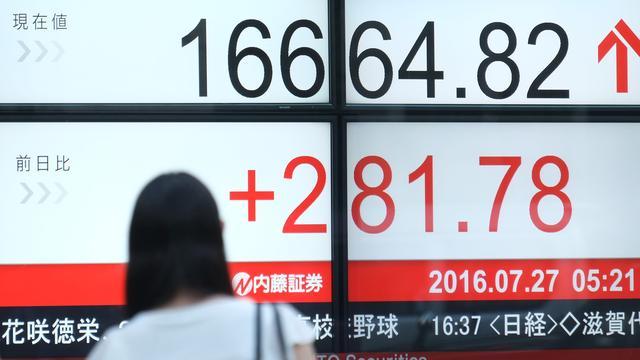 Nikkei hoger in lagere regio