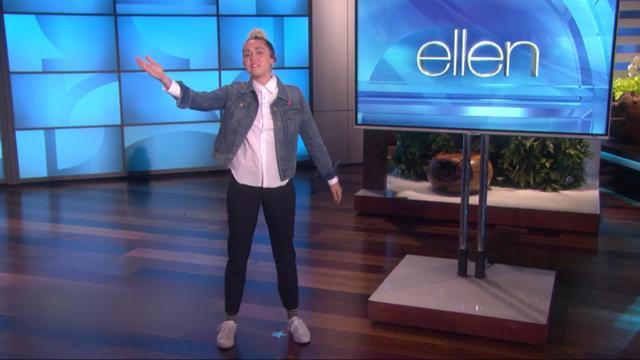 Miley Cyrus valt in voor zieke Ellen DeGeneres