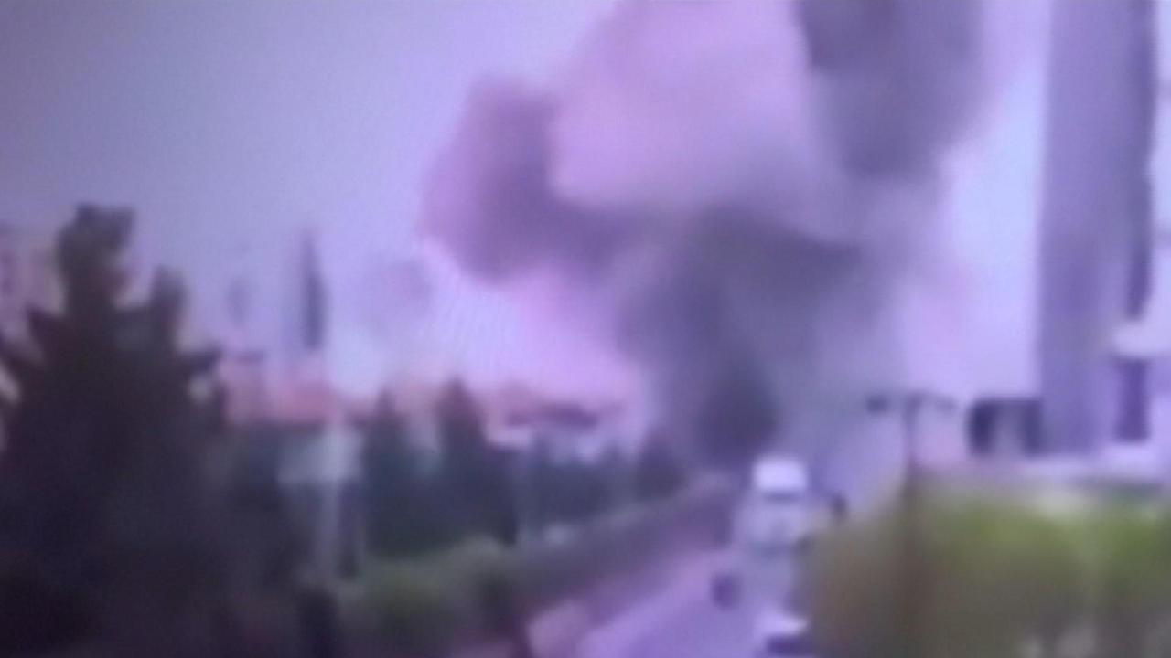 Beveiligingscamera filmt bomaanslag Diyarbakir