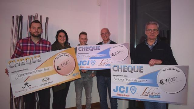 Lekker Etten-Leur reikt Goede Doelen cheques uit