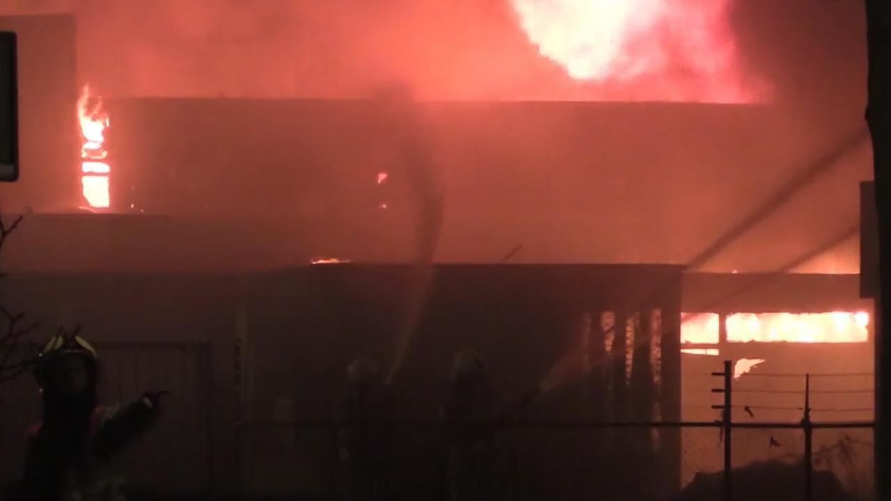 Grote brand in school Amersfoort