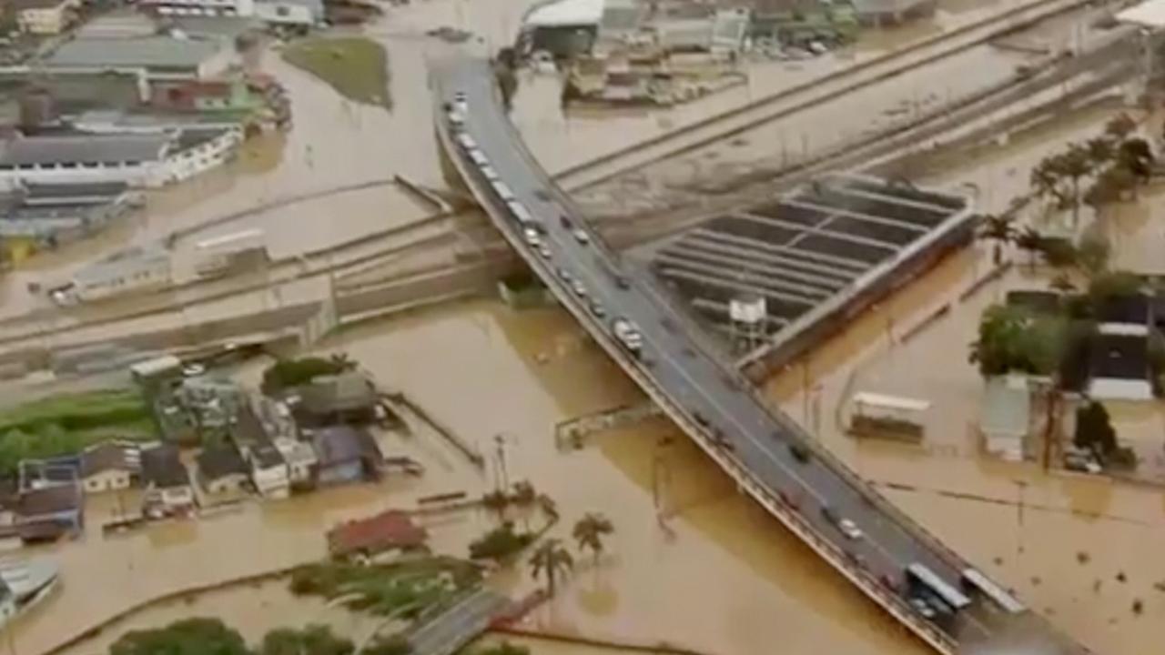 Noodweer treft Braziliaanse staat São Paulo
