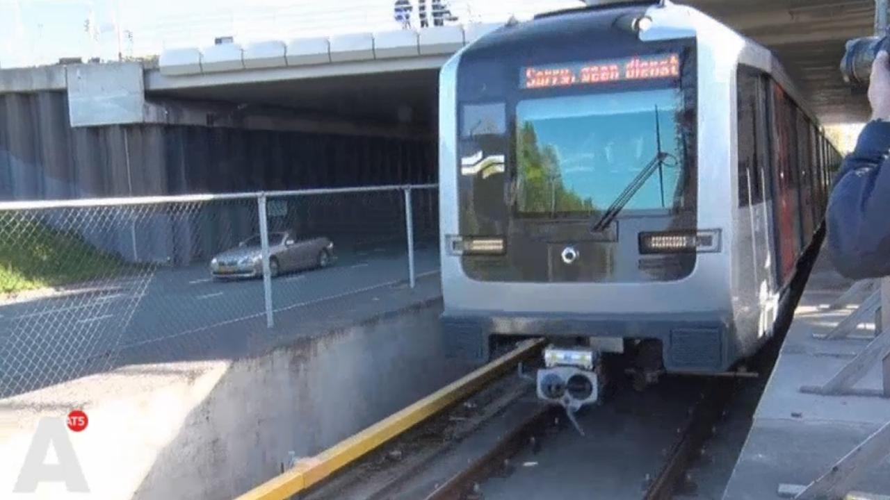 Testrit metro op traject Noord-Zuidlijn