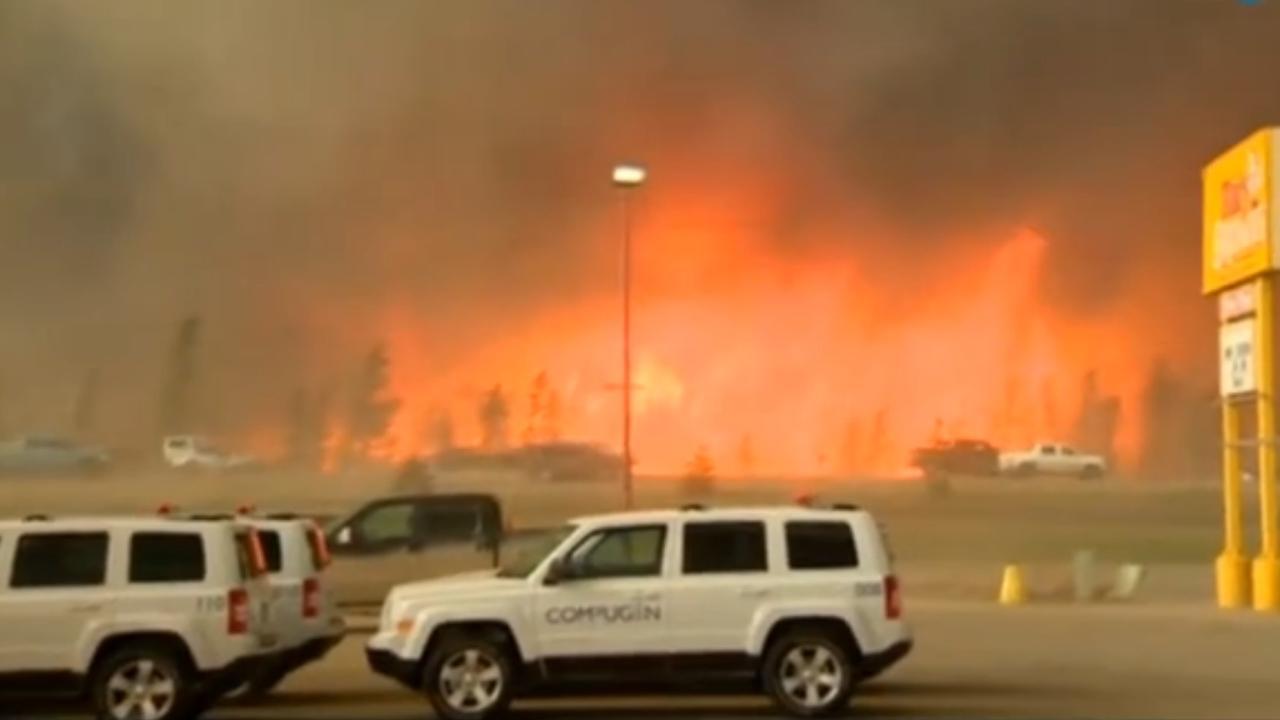 Evacuaties door grote bosbrand in Canada