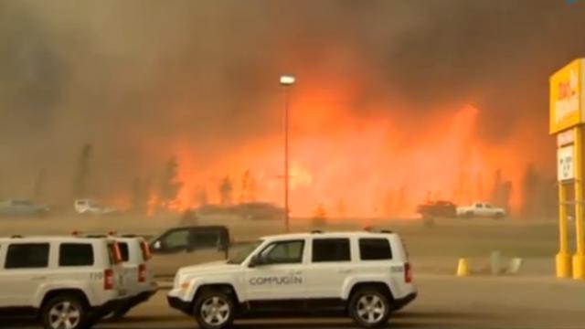 Shell legt productie stil om bosbrand Canada