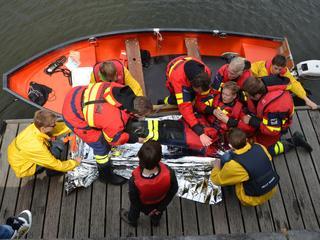 Verschillende Zeeuwse reddingsbrigades in actie