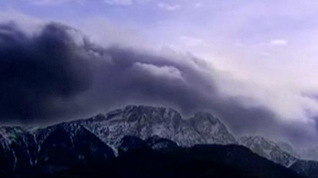 Föhnwind waait over Poolse bergen