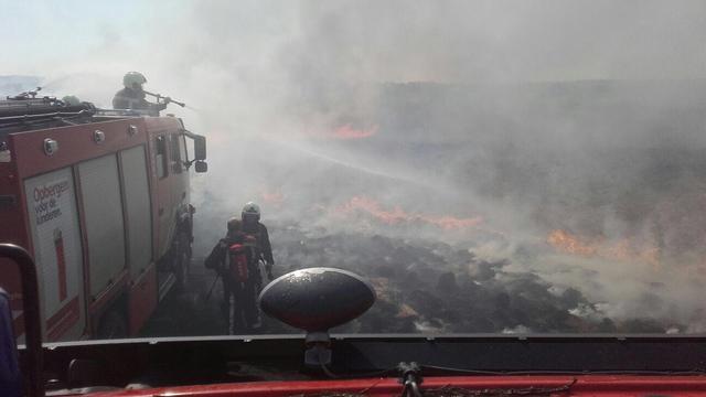 Heidebrand uitgebroken bij Hoog Soeren