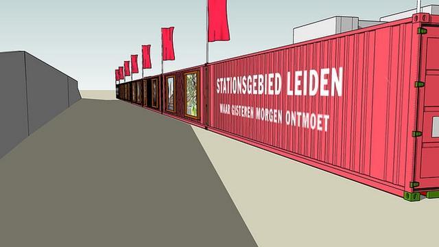 Pop-up-buurt gaat drie maanden bruisen bij Leiden Centraal