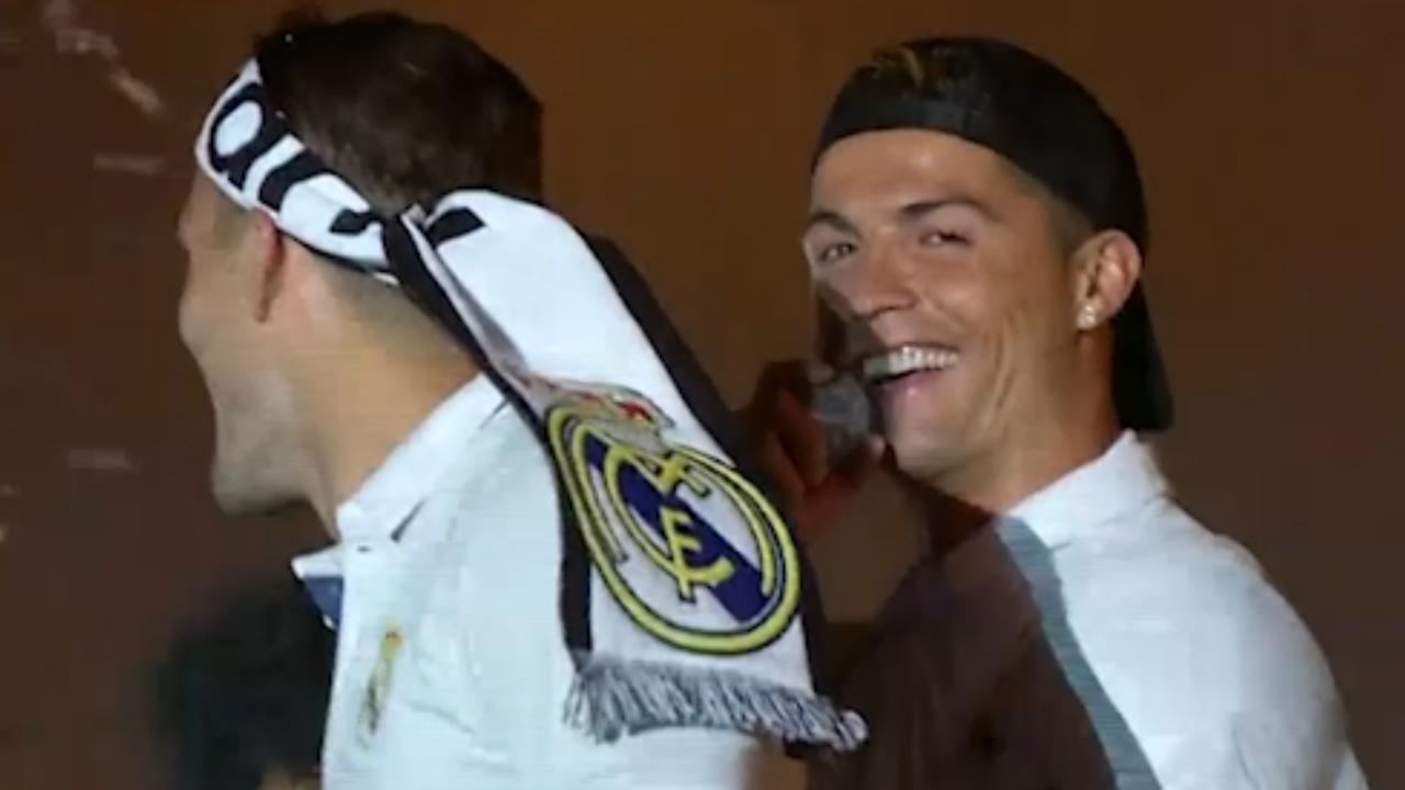 Spelers Real Madrid vieren feest na behalen 33e landstitel