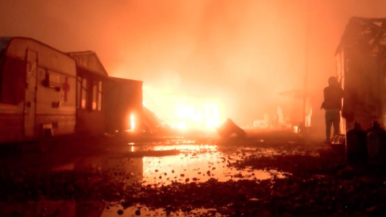 Verschillende branden in voormalig vluchtelingenkamp Calais