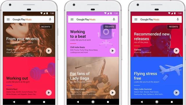 Google toont slimme muzieksuggesties in Play Music