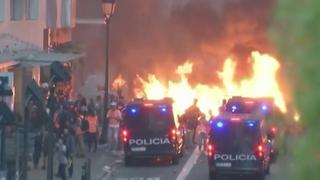 Pro-Catalaanse demonstranten botsen met politie in Barcelona