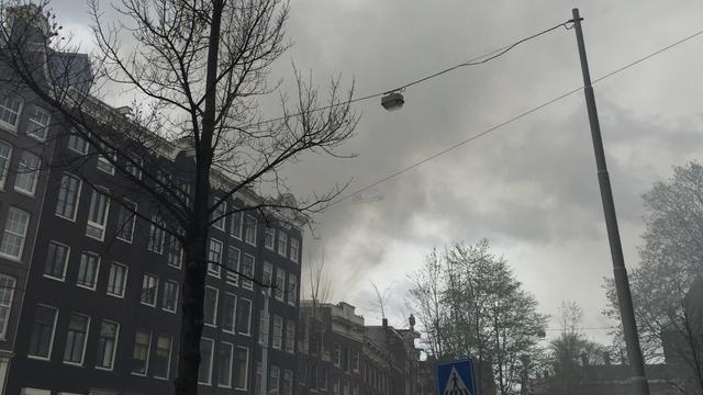 Grote brand in centrum Amsterdam