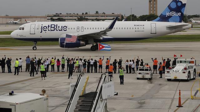 Eerste commerciële vlucht tussen VS en Cuba in vijftig jaar