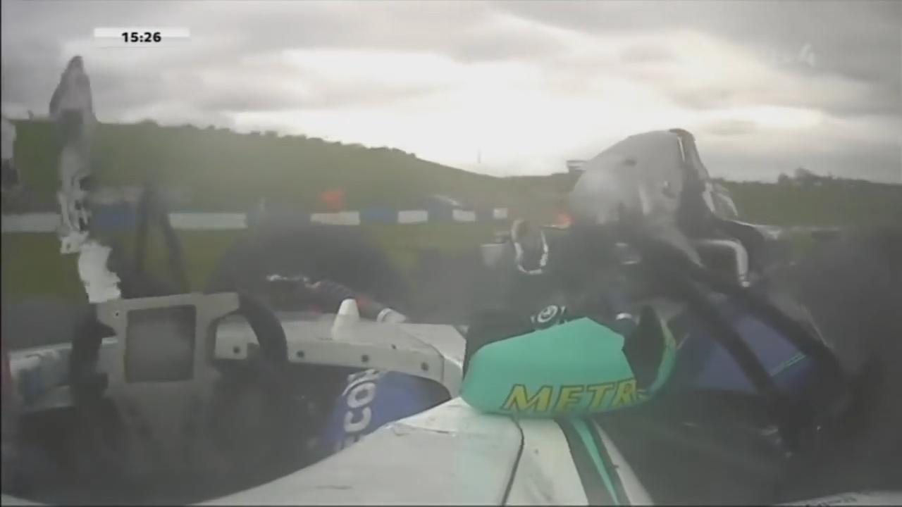 Harde crash Brits racetalent in Formule 4