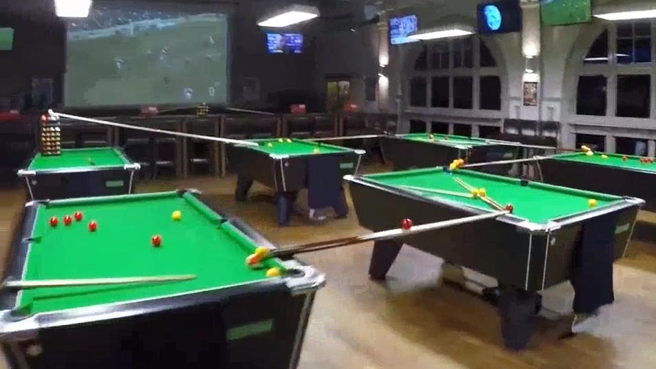 Indrukwekkend pooltraject in sportbar Bristol