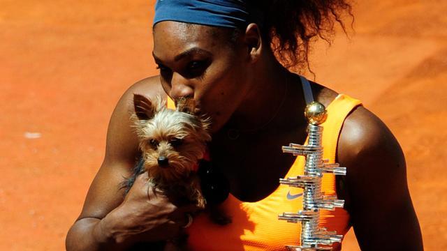 Serena Williams werd ziek van hondenvoer voor duel in Rome