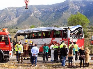 Bus kwam op de snelweg in botsing met een personenauto