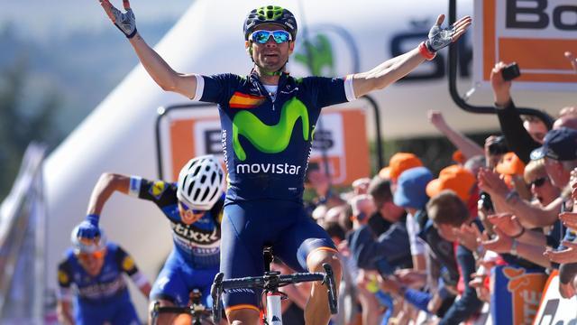 Valverde alleen recordhouder door vierde zege op Muur van Hoei