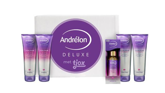 Vier Andrélon Deluxe boxen met 50 procent korting voor 14,95 euro per stuk