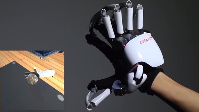 Exoskelet voor handen laat je voelen in virtual reality