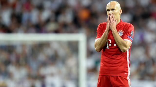 Robben vindt dat Bayern is bestolen door arbitrage in Champions League
