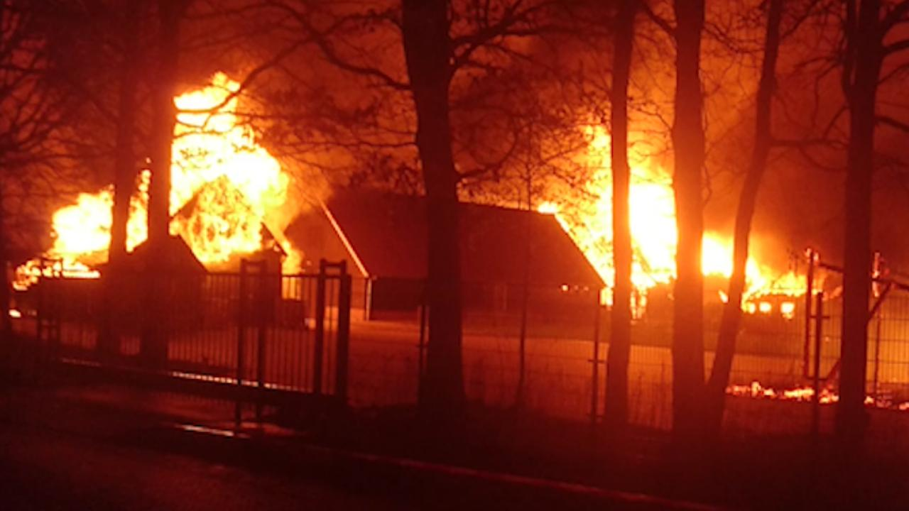 Grote brand in Exloo