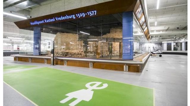 Restanten Kasteel Vredenburg in nieuwe parkeergarage Hoog Catharijne