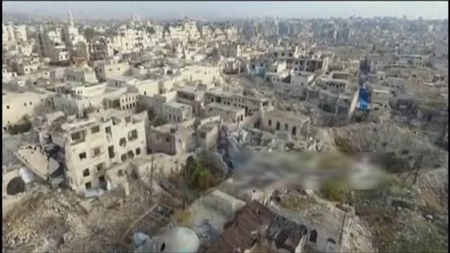 Dronebeelden tonen destructie Aleppo