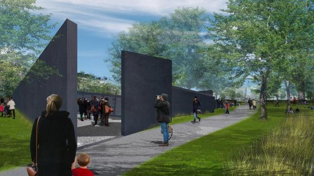 Namenwand Holocaustslachtoffers kan het beste in park Weesperstraat