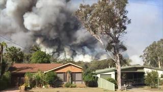 Enorme bosbrand woedt vlak bij woonwijk in Australië