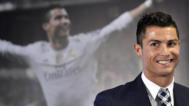 Cristiano Ronaldo intiem met fitnessmodel