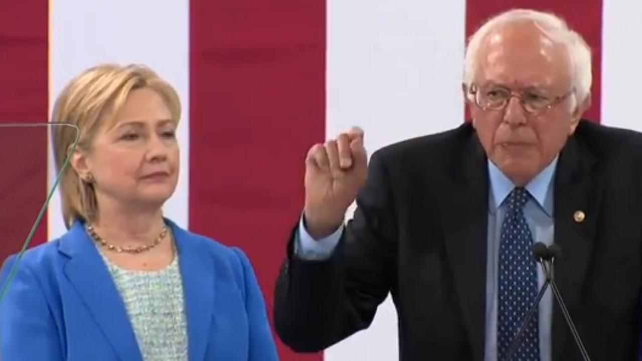 Sanders steunt Clinton in de rest van verkiezingscampagne
