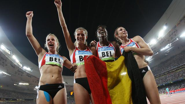 Belgische estafetteploeg gehuldigd na afpakken medaille Rusland