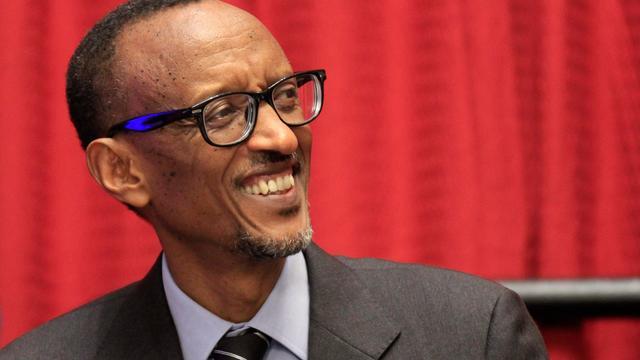 President Kagame van Rwanda gaat voor herverkiezing