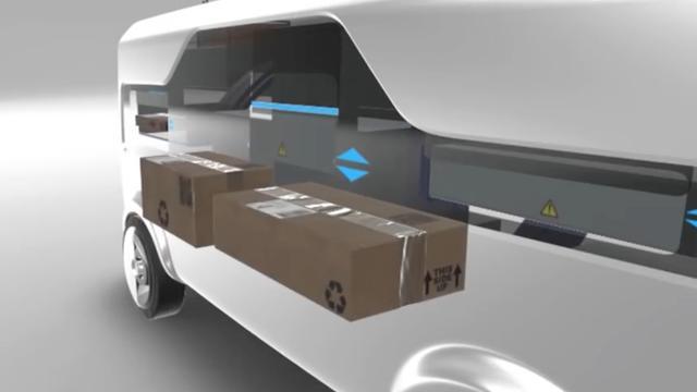 Ford maakt zelfrijdende bezorgbus met uitzenddrones