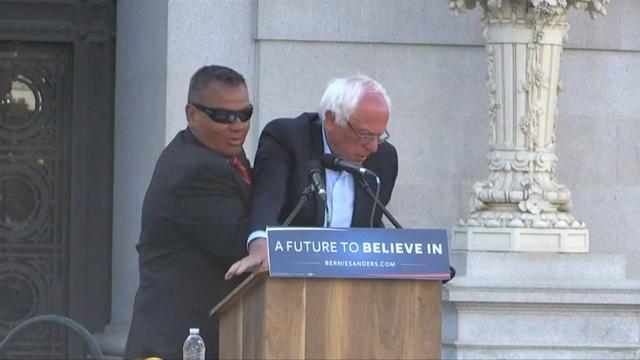 Demonstranten verstoren toespraak Bernie Sanders