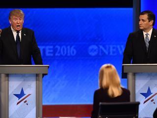Republikeinse presidentskandidaten debatteren in New Hampshire